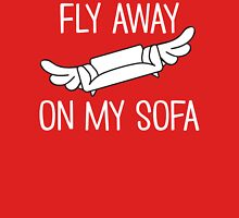Fly Away On My Sofa Womens Fitted T-Shirt