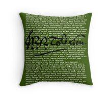 Concerning Hobbits - Moss Throw Pillow