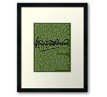 Concerning Hobbits - Moss Framed Print
