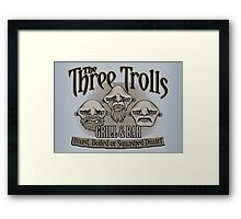 The Three Trolls Framed Print