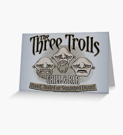 The Three Trolls Greeting Card