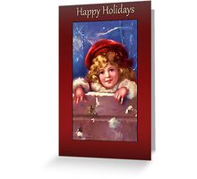 Young Lad Christmas Card Greeting Card