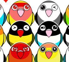 Lovebird colour mutations Sticker