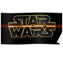 SW LOGO 4 (Red line) Poster