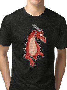 STUCK - Red Dragon Tri-blend T-Shirt