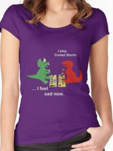 Dino League: Casting Comet Storm Women's Fitted Scoop T-Shirt