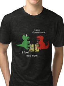 Dino League: Casting Comet Storm Tri-blend T-Shirt
