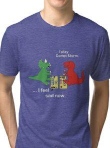 Dino League: Casting Comet Storm Tri-blend T-Shirt