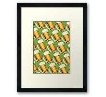 St. Patricks Day - Beer Pattern Framed Print
