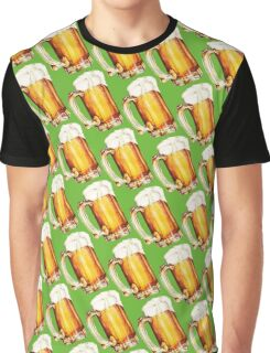 St. Patricks Day - Beer Pattern Graphic T-Shirt