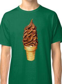 Chocolate Dip Ice Cream Pattern Classic T-Shirt