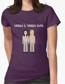 "Alex & Piper: ""Vanilla & Vanilla Swirl"" Womens Fitted T-Shirt"