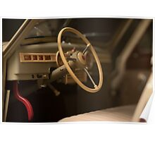 steering wheel retro car Poster