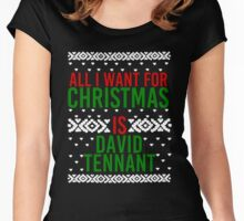 All I Want For Christmas (David Tennant) Women's Fitted Scoop T-Shirt