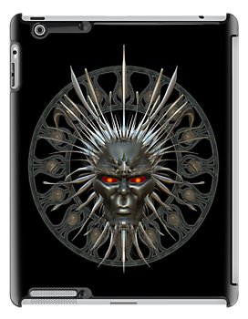 Demon Mask .. ipad case by LoneAngel