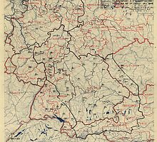 July 5 1945 World War II HQ Twelfth Army Group situation map by allhistory