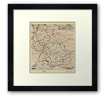 July 5 1945 World War II HQ Twelfth Army Group situation map Framed Print