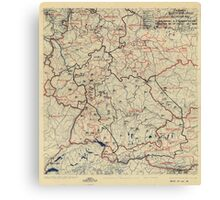 July 5 1945 World War II HQ Twelfth Army Group situation map Canvas Print
