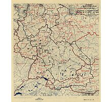 July 5 1945 World War II HQ Twelfth Army Group situation map Photographic Print