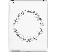 The One Ring (Inscription) iPad Case/Skin