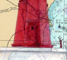 Menominee River Lighthouse MI Chart Cathy Peek Sticker