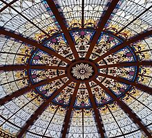 Palm Court Ceiling by Steve Hunter