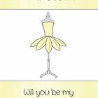 Cousin Will You Be My Bridesmaid with Mannequin & Petal Dress by Catherine Roberts