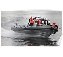 Russian Marines in a speedboat Poster