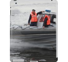 Russian Marines in a speedboat iPad Case/Skin
