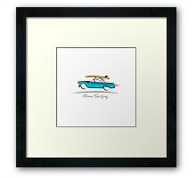1955 Ford Thunderbird Gone Surfing Framed Print
