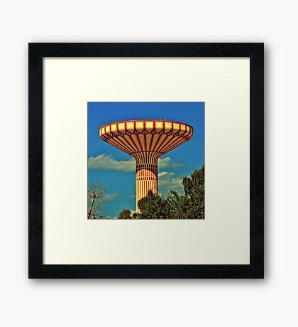 Jumeriah Water Tower Framed Print