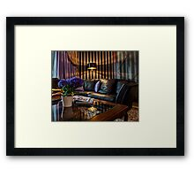 sofa in Living Room  Framed Print
