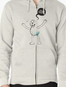Flat Eric (Mr. Oizo) - Stay Positif Zipped Hoodie