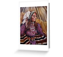 Apache Colors #2 Wrapped In Tradition Greeting Card
