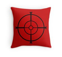 target sniper  killer geek video game Throw Pillow