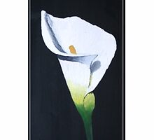 Thank You Sympathy Card - Oil Painted Calla Lily by Samantha Harrison