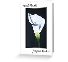 Thank You Sympathy Card - Oil Painted Calla Lily Greeting Card
