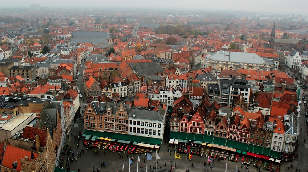 Bruges - View from the Belfry 3 by rsangsterkelly