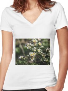 November blooms Women's Fitted V-Neck T-Shirt