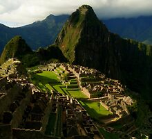 Machi Picchu at Sunset  by Brian Bo Mei