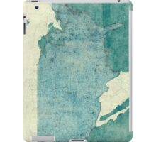 United States Of America Map Blue Vintage iPad Case/Skin