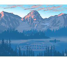 bear country landscape illustration Photographic Print