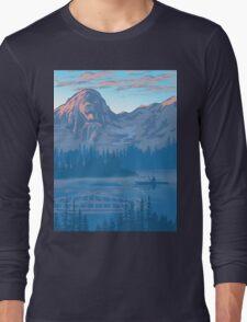bear country landscape illustration Long Sleeve T-Shirt
