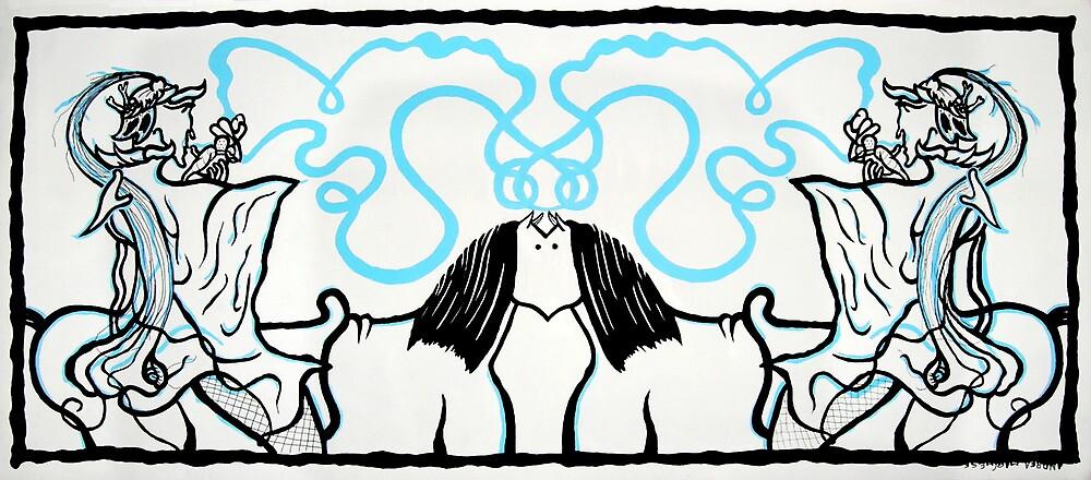 Cavaliere che si guarda allo specchio senza riconoscersi by Poisonidea