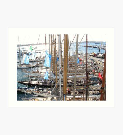 I KNOW OF THE BOATS --CONOSCO DELLE BARCHE - EUROPA - VETRINA RB EXPLORE 9 DICEMBRE 2012 --- Art Print