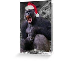 Angry Christmas Gorilla Greeting Card