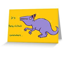 Party Dinosaur Greeting Card
