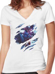 Vayne  Women's Fitted V-Neck T-Shirt