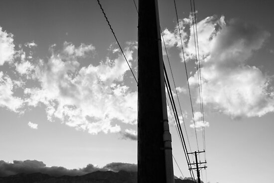 Palm Springs Telephone Pole and Sky by adlad