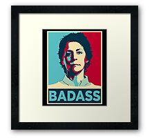 CAROL PELETIER BADASS (The Walking Dead) Framed Print
